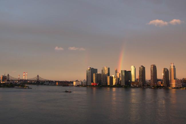 Arcoíris Nueva York en primavera