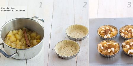 Tartaletas de compota de manzana. Receta paso a paso