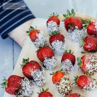 Fresas cubiertas con chocolate. Receta