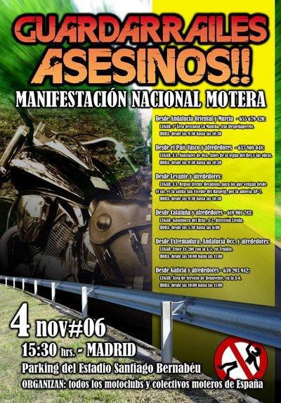 Manifestación contra los guardarraíles, 4 de Noviembre en Madrid
