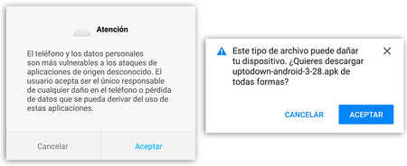 Origenes Desconocidos advertencias android