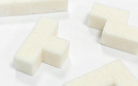 Azúcar con forma de Tetris