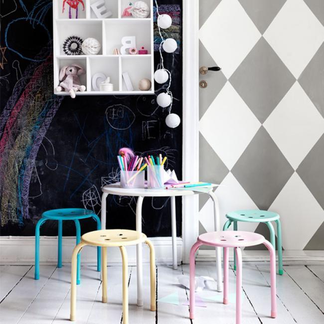 Geometriza tus paredes una nueva manera de decorar tu hogar - Formas de pintar paredes ...