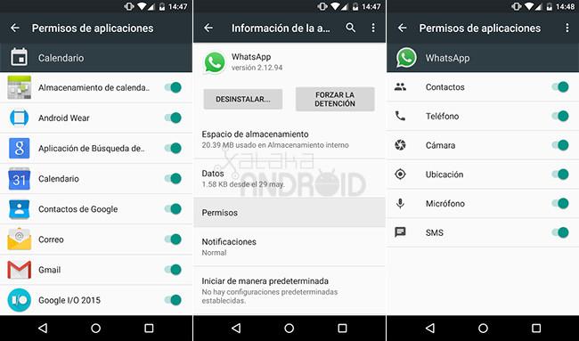 Android M Permisos