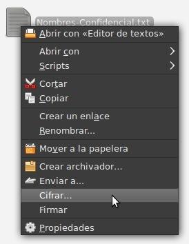 Cifra tus archivos fácilmente en Ubuntu Intrepid Ibex