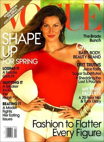 Gisele Bundchen guapísima tras su embarazo y con el mismo estilo de siempre para Vogue I