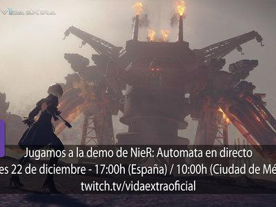 Streaming de NieR: Automata hoy a las 17:00h (las 10:00h en Ciudad de México) [finalizado]