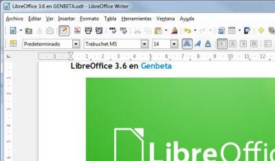 LibreOffice 3.6. Algunos cambios estéticos, nuevas prestaciones y una notable mejora en el arranque