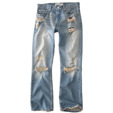 Jeans rotos para hombre