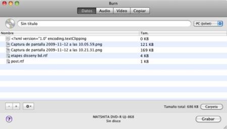 Burn, la aplicación perfecta para grabar CDs y DVDs en Mac OS X