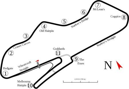 Circuito Donington Park, trazado