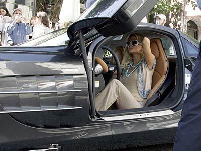 Paris Hilton Mercedes SLR Mclaren