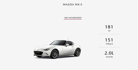 Mazda MX-5 100 aniversario: Precios y equipamiento en México