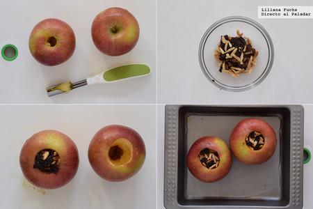 Manzanas Asadas. Pasos