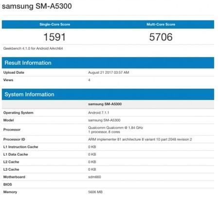 Un supuesto Galaxy A5 2018 hace su aparición en Geekbench