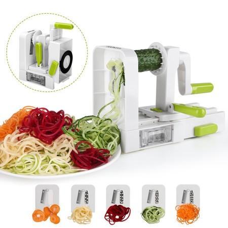 Oferta flash en el cortador de verduras en espiral Sedhoom: hasta medianoche cuesta 15,60 euros en Amazon