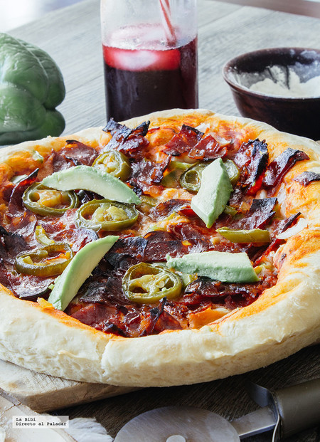 Pizza mexicana casera. Receta en video