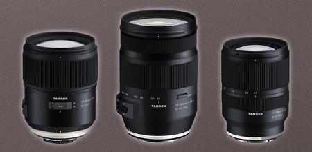 Tamron 35-150mm F/2.8-4 Di VC OSD, SP 35mm F/1.4 Di USD y 17-28mm F/2.8 Di III RXD, nuevas ópticas para full frame en desarrollo