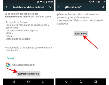 Reset Android Mobile