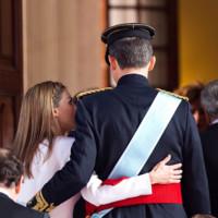 Espalda Felipe VI Letizia Ortiz rey reina