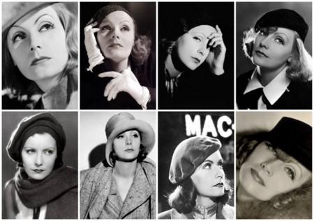 Greta garbo diferentes sombreros