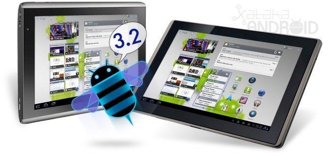 Acer Iconia Tab y Asus Transformer con Honeycomb 3.2