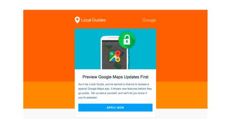 Si eres Local Guides de Nivel 6+ podrás solicitar Google Maps Preview y recibir sus novedades antes que nadie