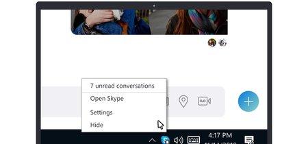 Skype se actualiza para los usuarios del Programa Insider: ahora ofrece acceso desde la barra de tareas