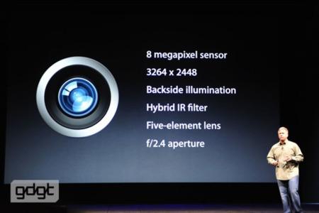 Características del la cámara del iPhone 5