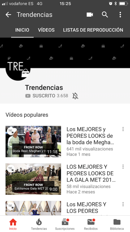 Youtube Trendencias