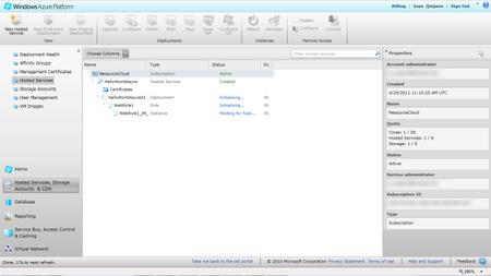 Desplegando en Windows Azure