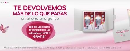 Kit de ahorro energético gratis con productos LG