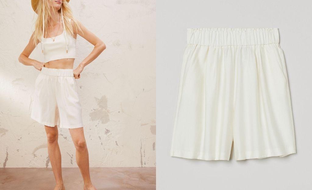 Pantalón corto con lyocell