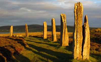 Círculos de piedra en Stenness, Islas Orcadas, Escocia