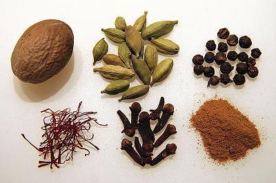 Garam masala, mezcla de especias indias