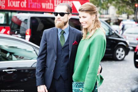 Justin O'Shea hombre barba pareja Veronika Heilbrunner estilo street style