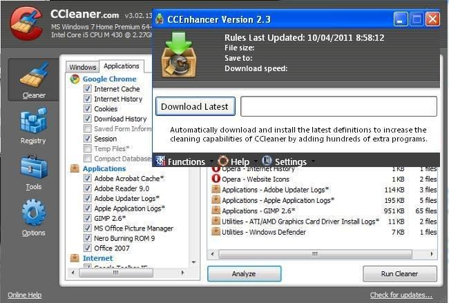 Potencia tu CCleaner con CCEnhancer añadiendo soporte para más de 450 programas