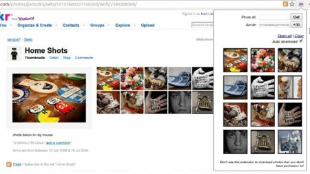 Baja fotos y sets de Flickr en Chrome con DownFlickr