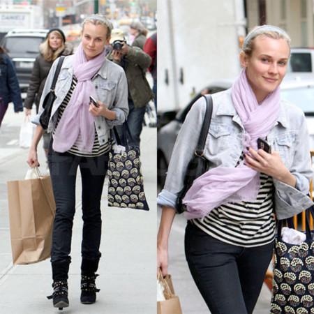 El look de calle de Diane Kruger