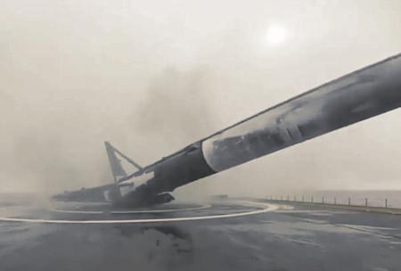 Al cohete de Space X le falló una pata y explotó, ahora podemos verlo en vídeo