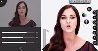 Curioso videoclip donde la cantante se va transformando gracias a un programa de retoque