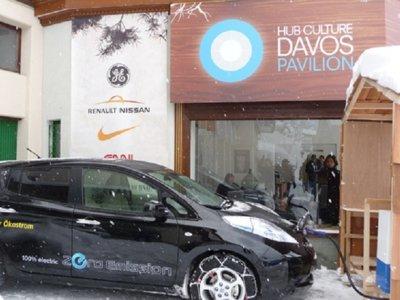 Nissan LEAF invitó el chocolate caliente en la Cumbre de Davos 2016