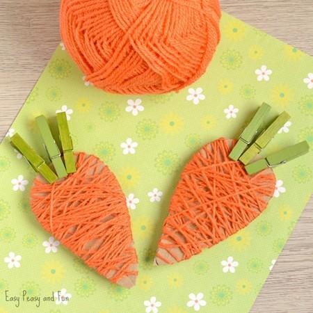 Manualidades Pascua Zanahoria