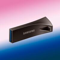 La memoria flash USB más vendida en Amazon es la Samsung BAR Plus de titanio y 64 GB a 7,99 euros, su mínimo histórico