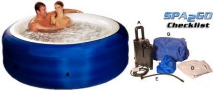 Bañera con hidromasaje portátil