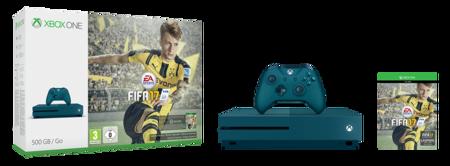 Xboxones 500gbconsoleinkblue Fifa17 We Groupshot Rgb