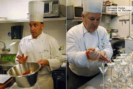 Ternera sancominada y copa de pastel de queso, las recetas del taller de cocina original Entre Fogones