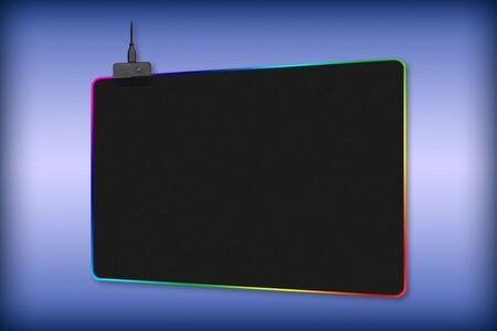 Mousepad con luz RGB de oferta en Amazon México: 14 modos de iluminación y material antiderrapante por 254 pesos