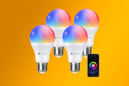 """Renueva la iluminación de tu hogar con este lote de cuatro bombillas RGB """"inteligentes"""" por 28,99 euros en Amazon"""