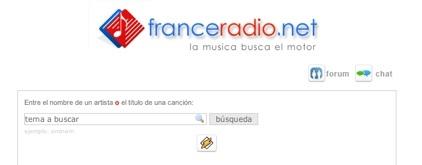 Franceradio, buscador de temas musicales en internet